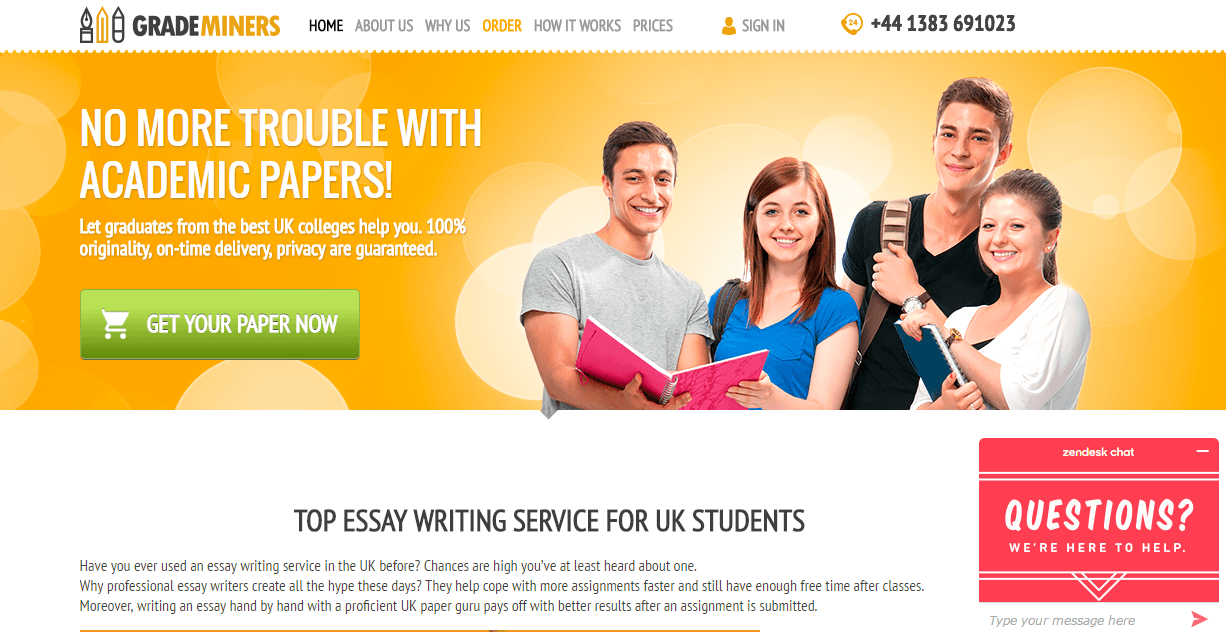 Grademinerscouk Review  Ukessaysreviews And When The Choice Is So Wide It Becomes Extremely Complicated To Find  Trustworthy And Affordable Essay Writing Service Proposal Essay also How To Make A Thesis Statement For An Essay  Research Proposal Essay Topics