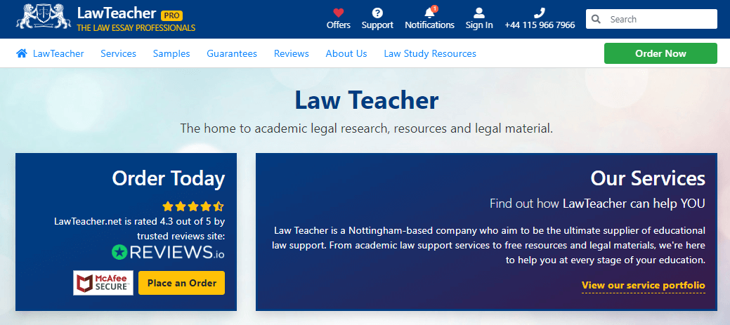 LawTeacher review