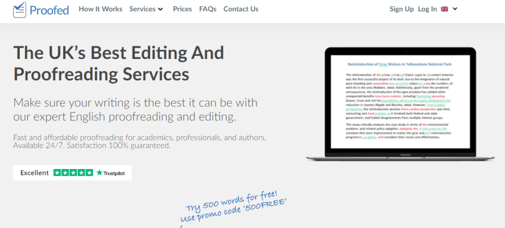 ProofreadMyEssay review